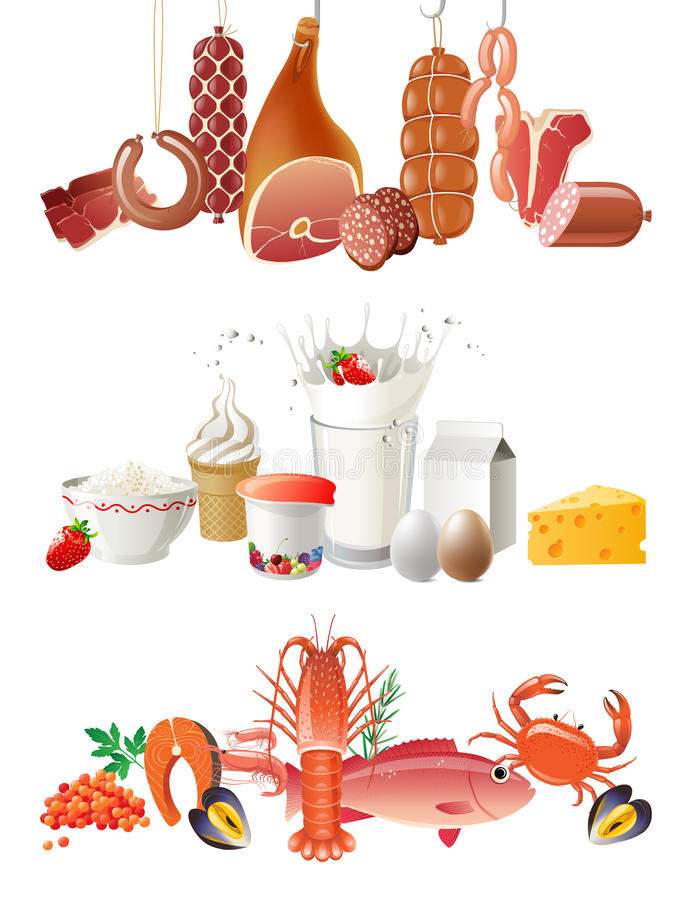 Cadres de nourriture illustration libre de droits
