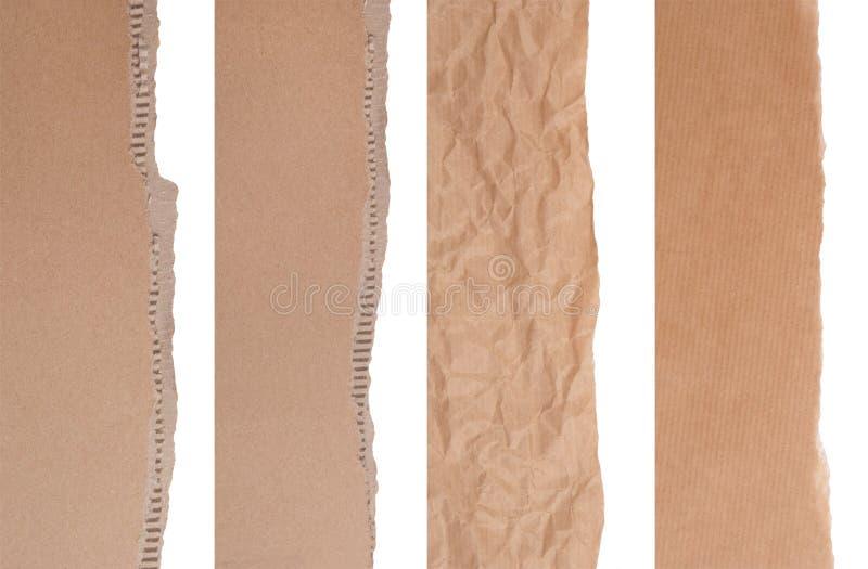 Cadres de papier et de carton de Brown photo stock