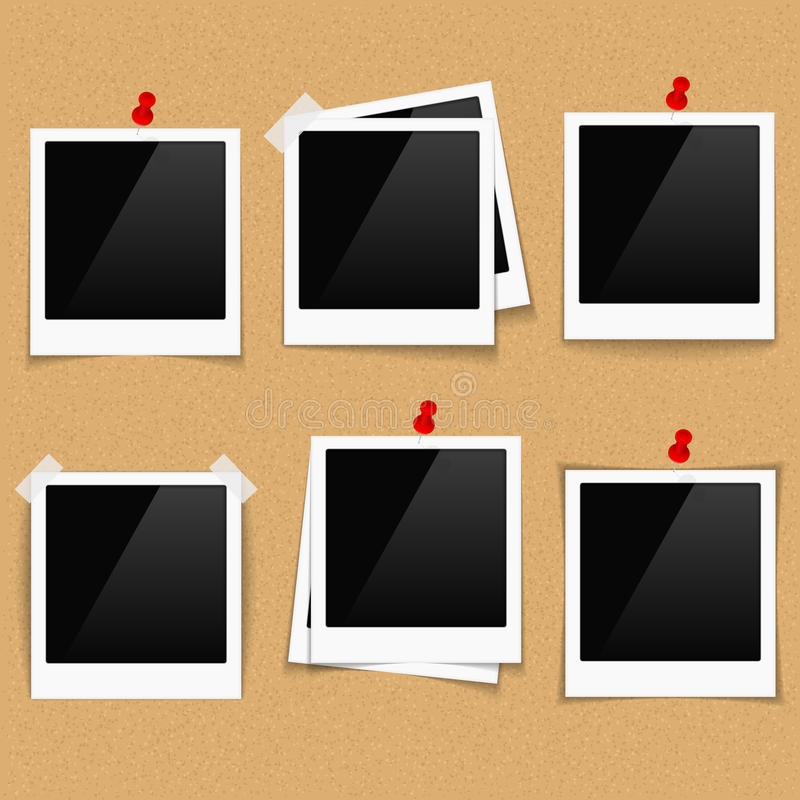Cadres de photo sur des babillards illustration stock