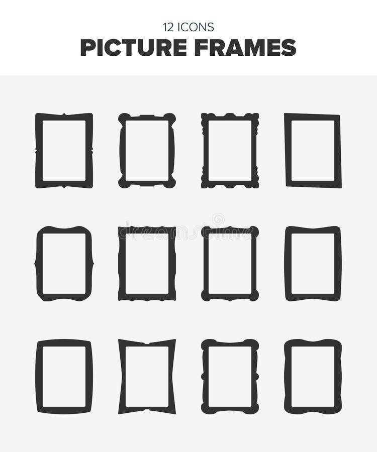 12 cadres de tableau illustration stock