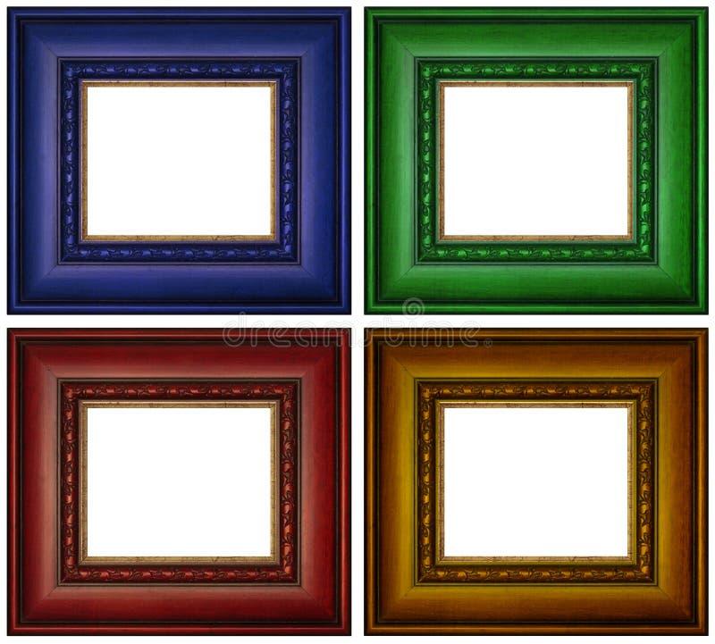 Cadres de tableau colorés images stock
