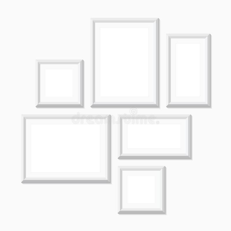 Cadres de tableau vides, illustration, blanche illustration libre de droits