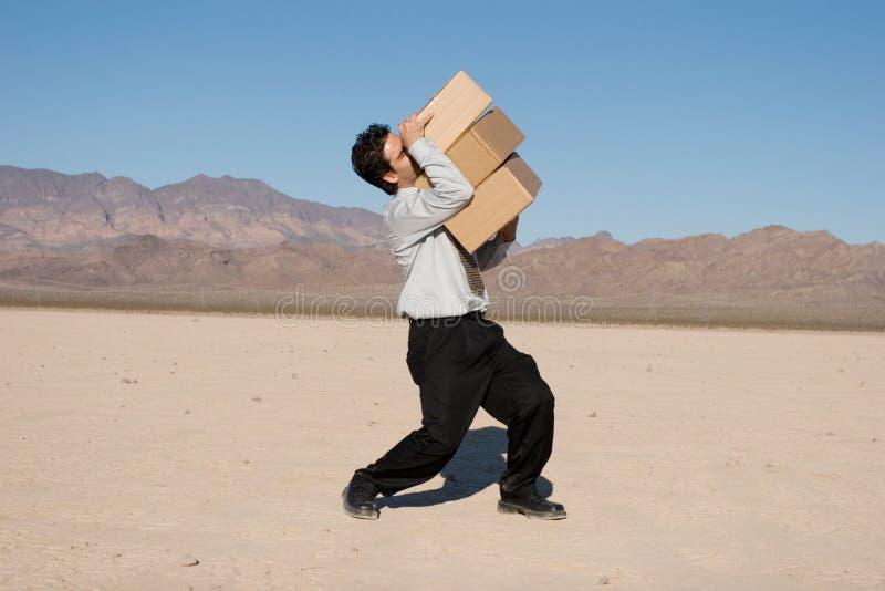 Cadres de transport d'homme d'affaires photographie stock libre de droits