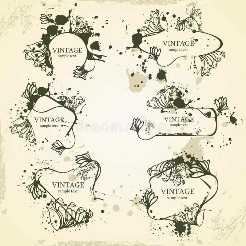 Cadres de vintage illustration de vecteur