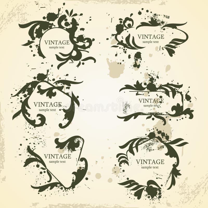 Cadres de vintage illustration stock