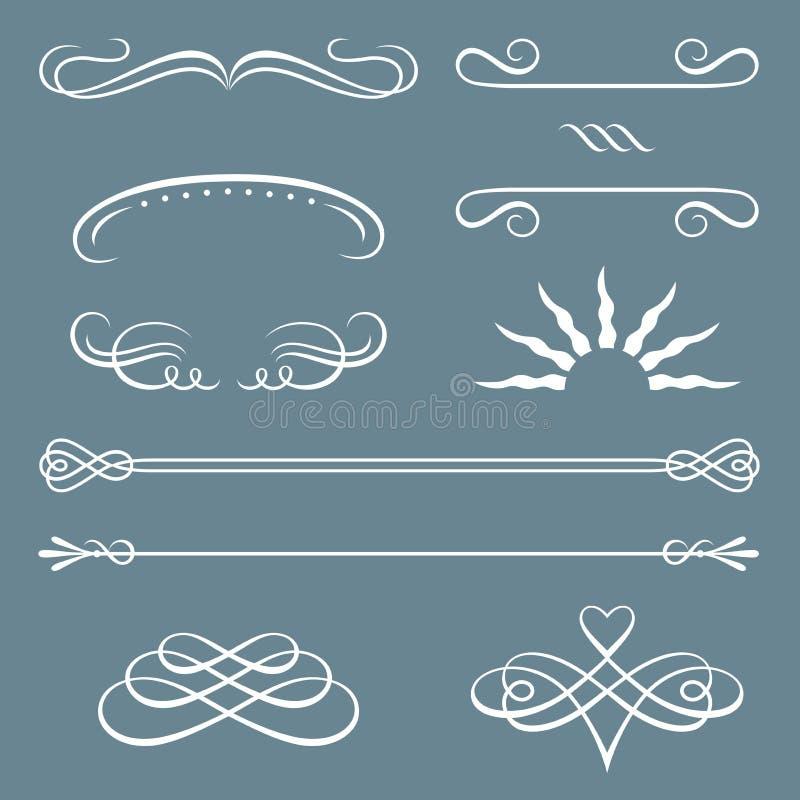 Cadres et trames décoratifs illustration stock