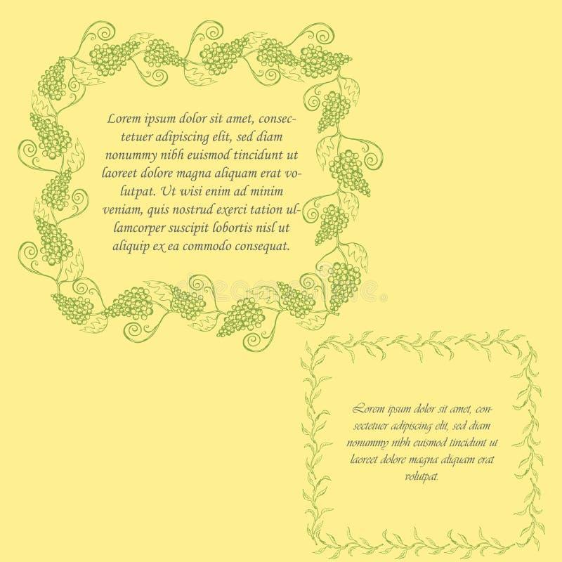 Cadres floraux colorés illustration stock