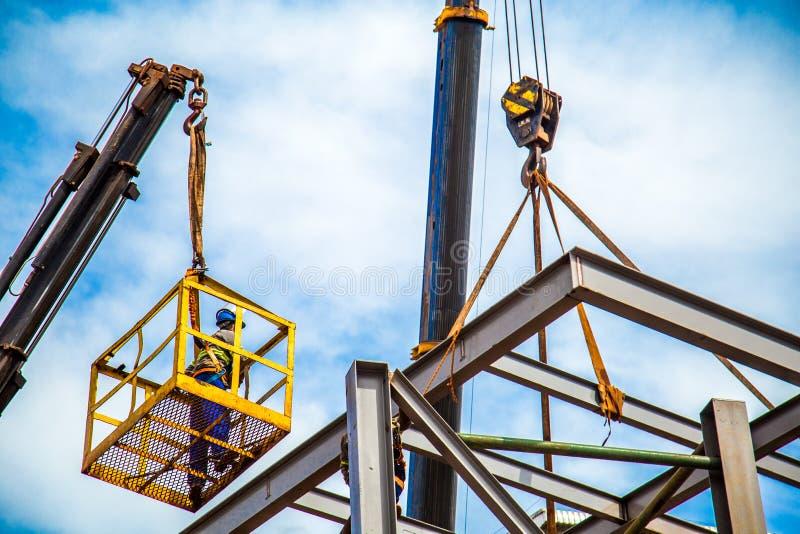 Cadres industriels de travailleur de la construction image stock