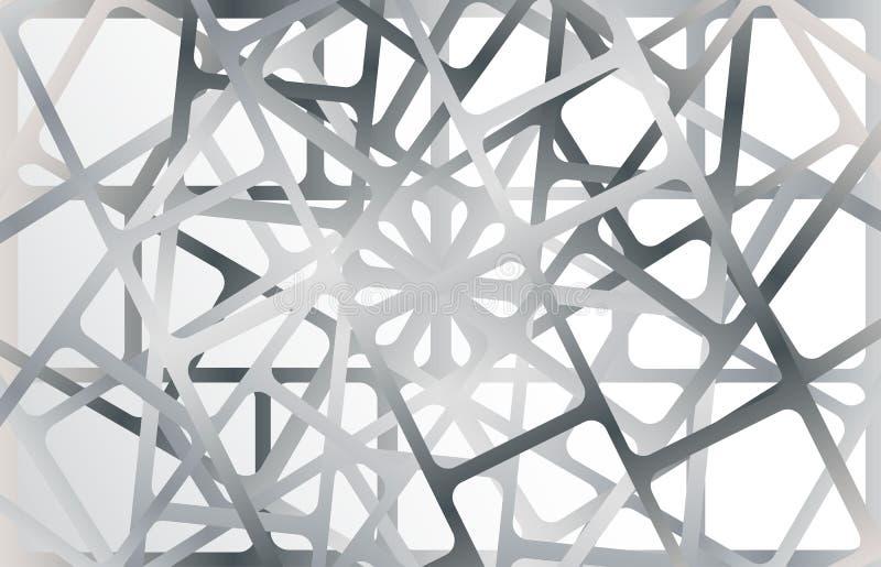Cadres métalliques argentés sur le fond argenté illustration stock