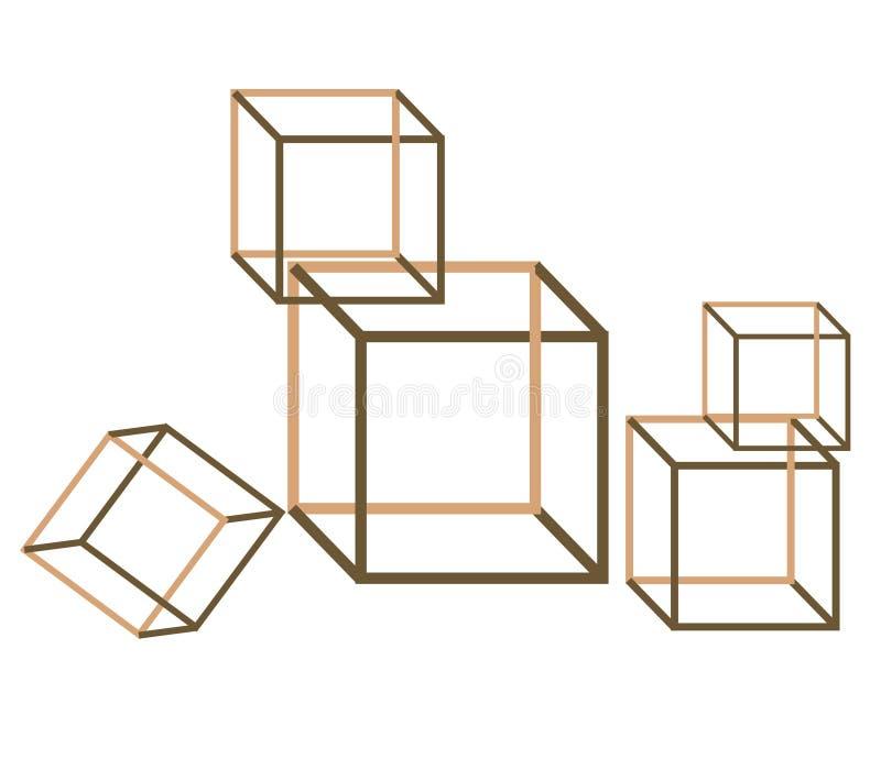 Cadres magiques - vue 3d illustration stock