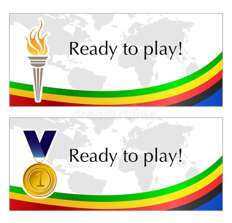 Cadres olympiques des textes illustration libre de droits