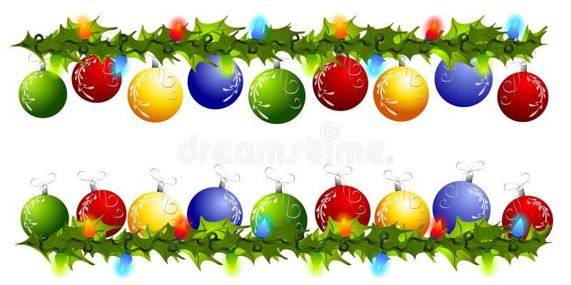 Cadres ou diviseurs de butin d'ornement de Noël illustration libre de droits