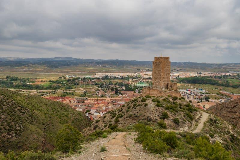 Cadrete kasteel oud Spaans kasteel stock afbeeldingen