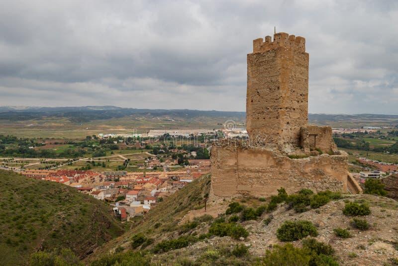 Cadrete kasteel oud Spaans kasteel royalty-vrije stock afbeelding