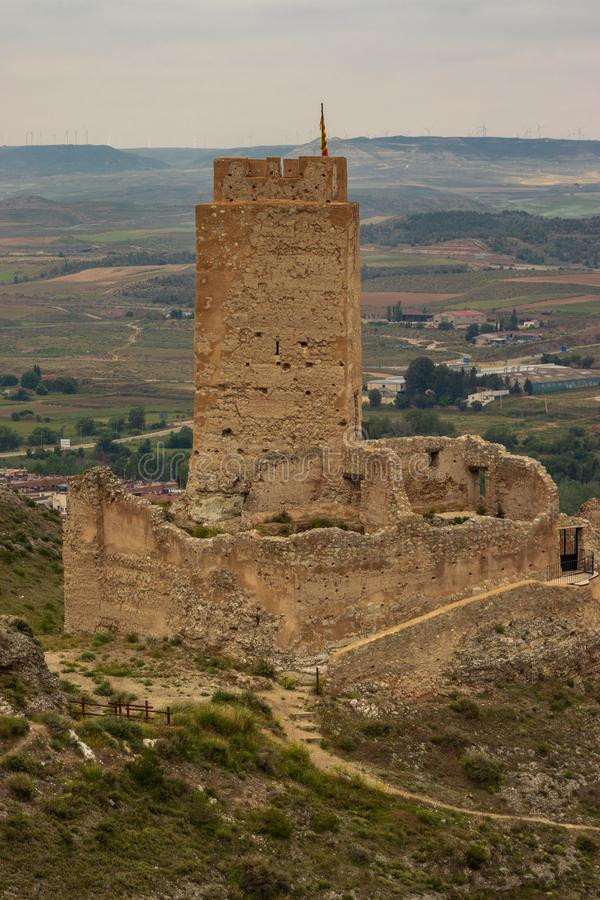 Cadrete kasteel oud Spaans kasteel stock foto's