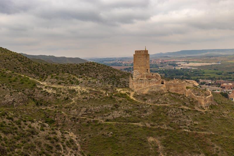 Cadrete kasteel oud Spaans kasteel stock foto