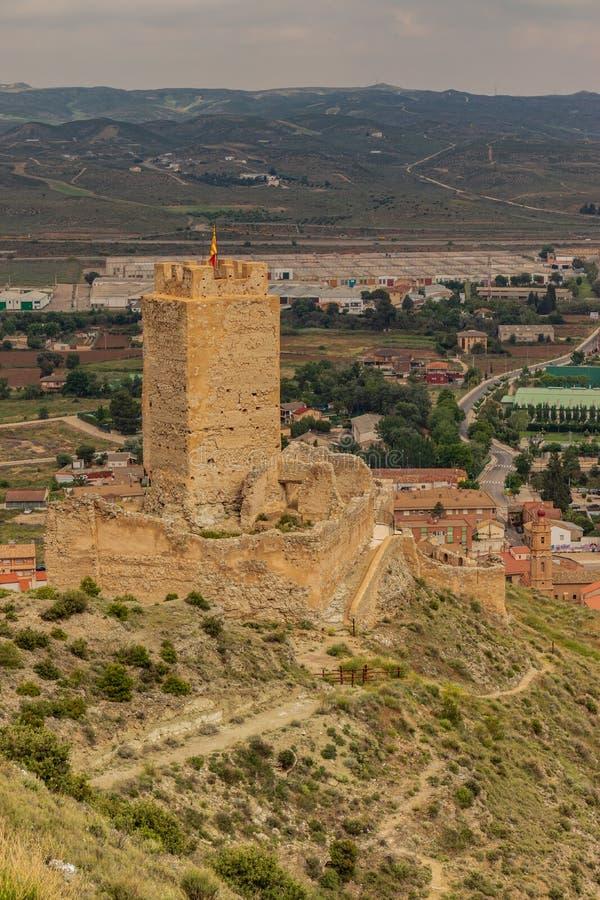 Cadrete`s castle old spanish castle stock images