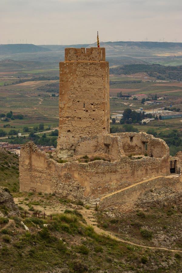 Cadretes altes spanisches Schloss Schlosses stockfotos
