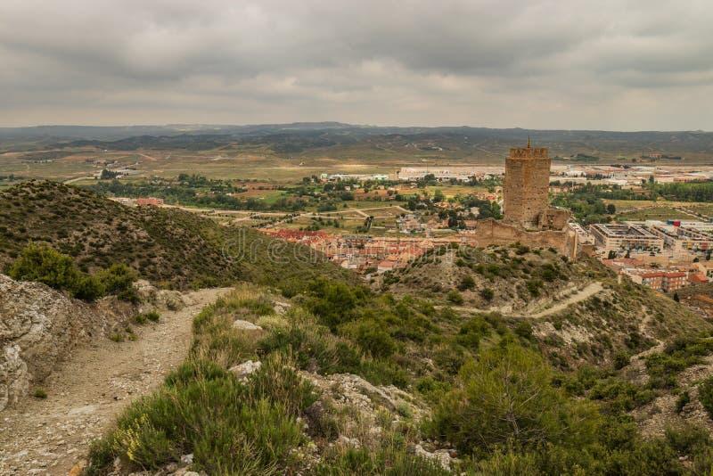 Cadretes altes spanisches Schloss Schlosses lizenzfreie stockfotos