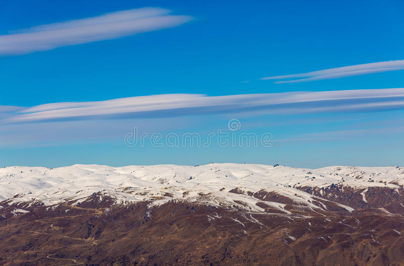 Cadrona Ski Area Queenstown New Zealand photographie stock libre de droits