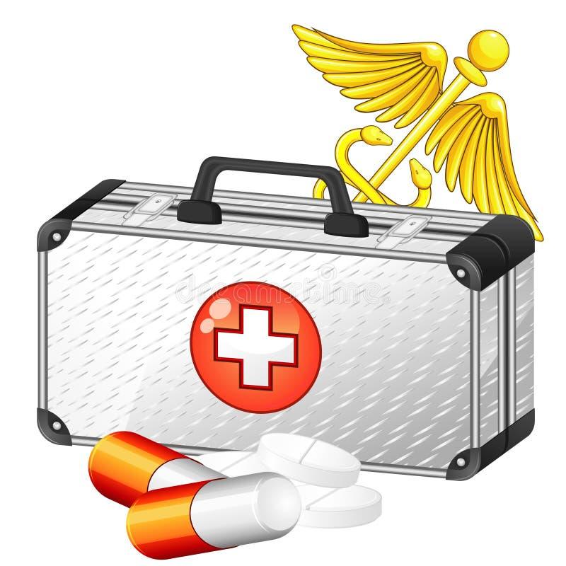 Caduceo e caso medico royalty illustrazione gratis