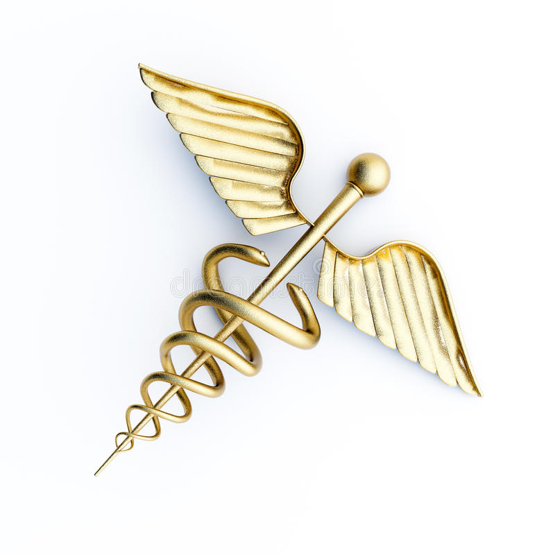 Caduceus royaltyfri illustrationer