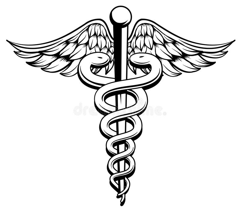 Caduceus vektor illustrationer