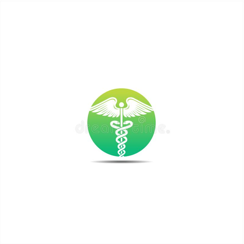 Caduceus, Caduceus logo icon for Medical healthcare conceptual vector illustrations royalty free illustration