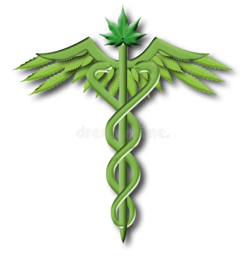 Caduceus della marijuana royalty illustrazione gratis