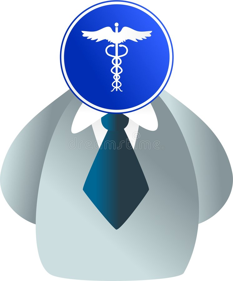 Caduceus gezicht stock illustratie