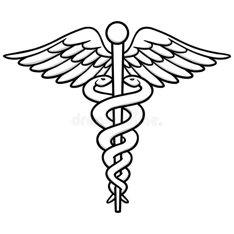 caduceus illustration stock vector illustration of symbol 84882810 rh dreamstime com Medical Symbol Vector Egyptian Caduceus Vector