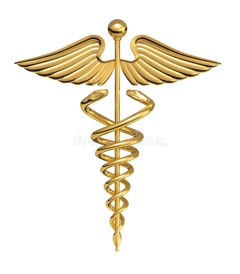 Caduceus Medical Symbol vector illustration
