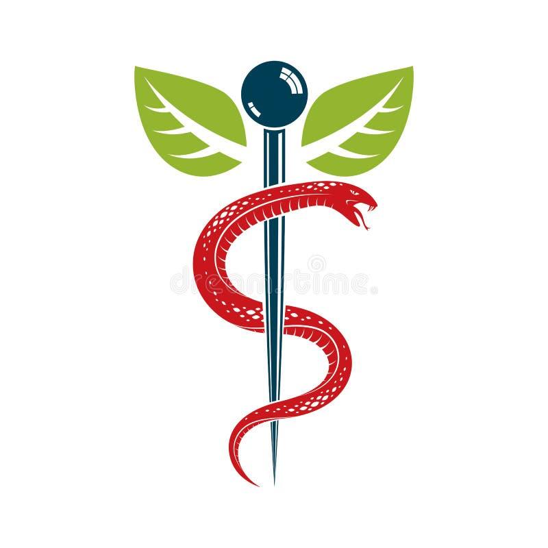 caduceus medical symbol graphic vector emblem for use in health rh dreamstime com
