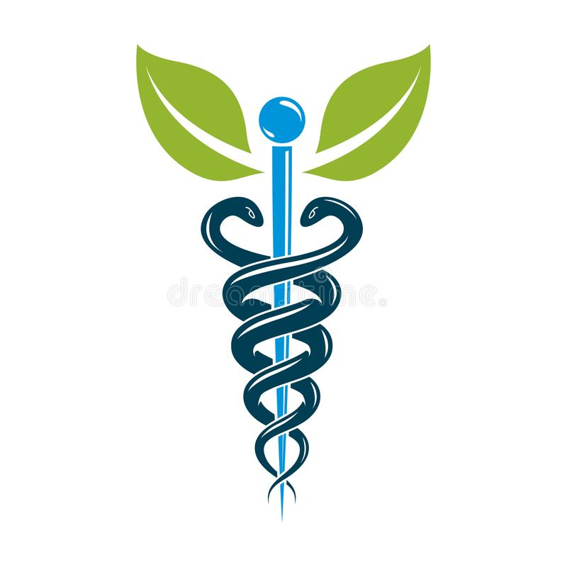 caduceus medical symbol graphic vector emblem for use in health rh dreamstime com