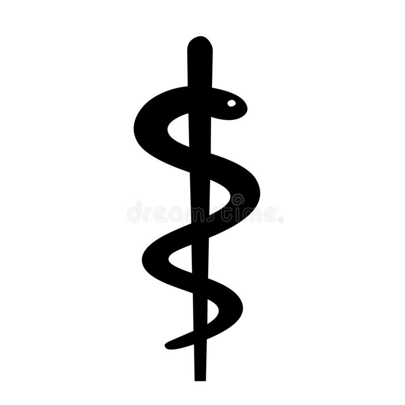 Caduceus medical symbol illustration. With a white background vector illustration