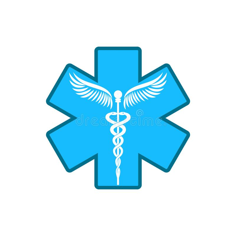 Caduceus - medicine symbol. stock illustration