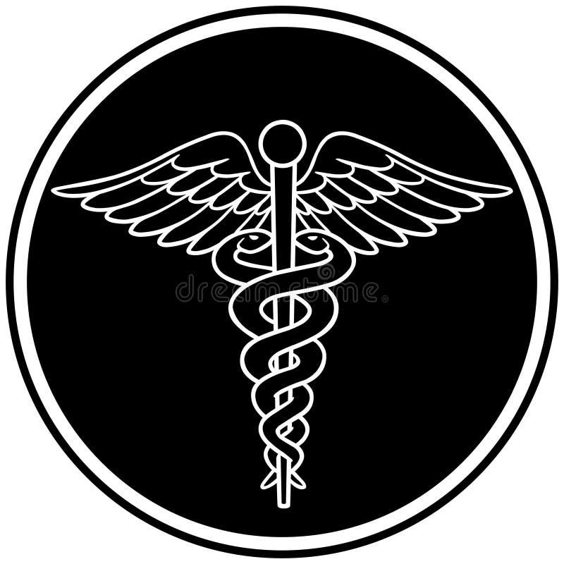 Caduceus Symbool stock illustratie