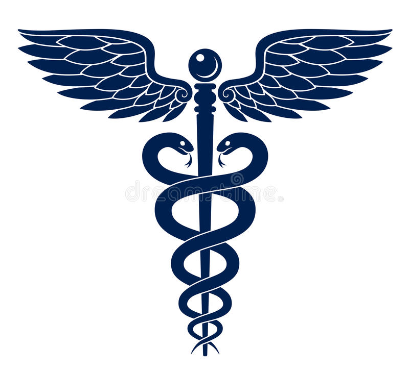 caduceus stock vector illustration of emblem blue vector 45446803 rh dreamstime com
