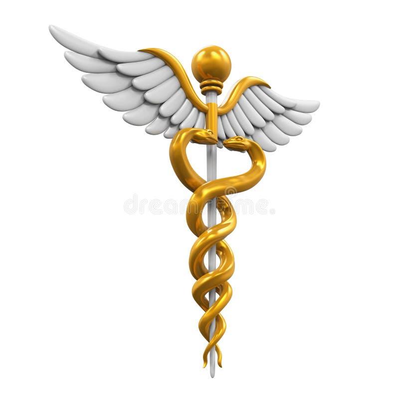 caduceusclippingen innehåller medicinskt banasymbol för digital illustration vektor illustrationer