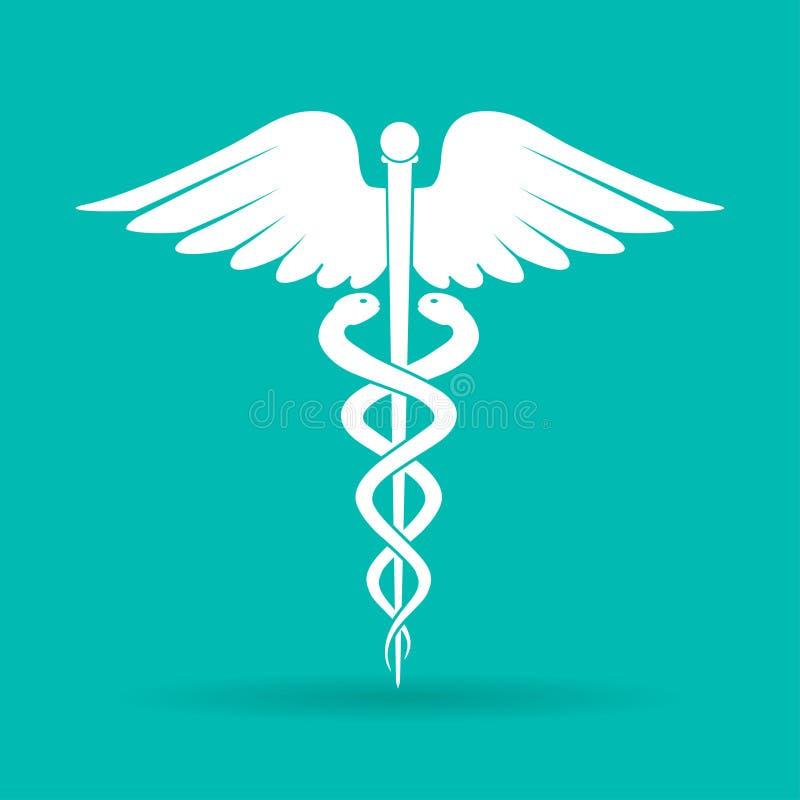 caduceusclippingen innehåller medicinskt banasymbol för digital illustration Emblem för apoteket eller medicin, medicinskt tecken vektor illustrationer