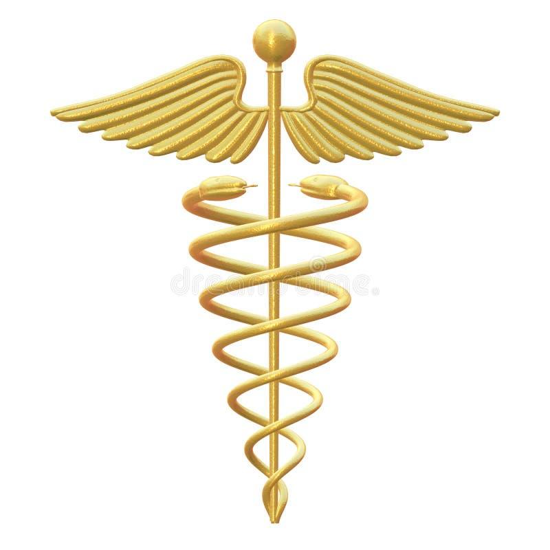 caduceusläkarundersökningsymbol royaltyfri illustrationer