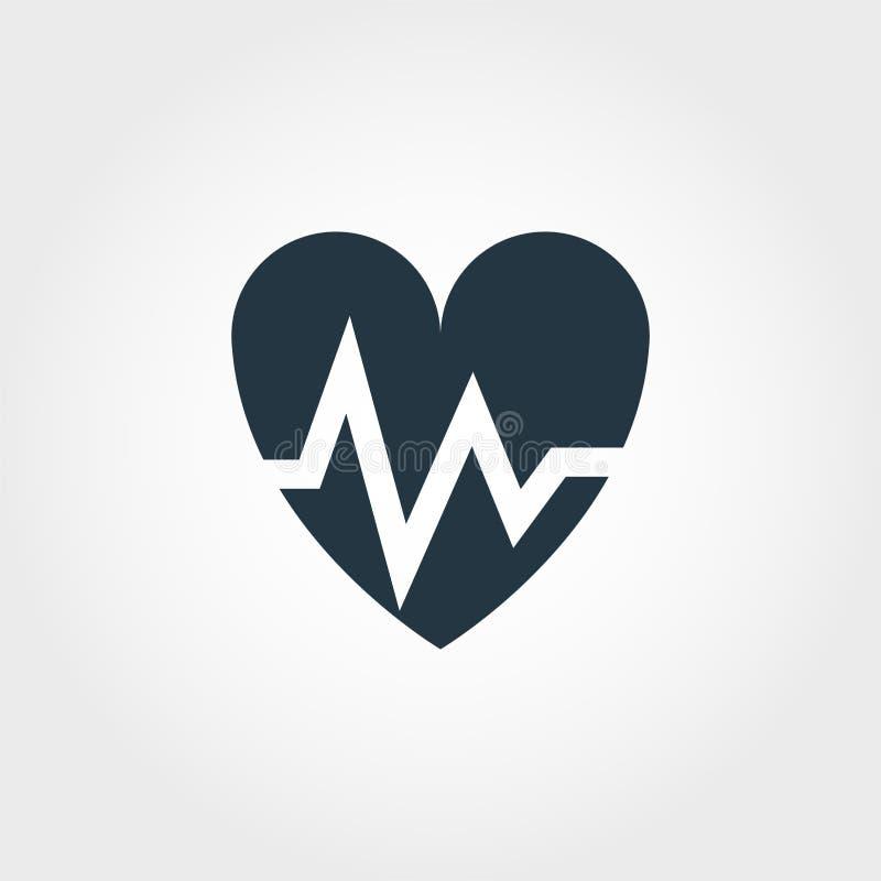 Caduceusskårasymbol Linje design för symbol för skåra för Caduceus för stilsymbolsdesign från medicinsamling pictogram som isoler vektor illustrationer