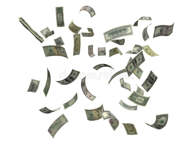 Caduta dei dollari US immagini stock libere da diritti