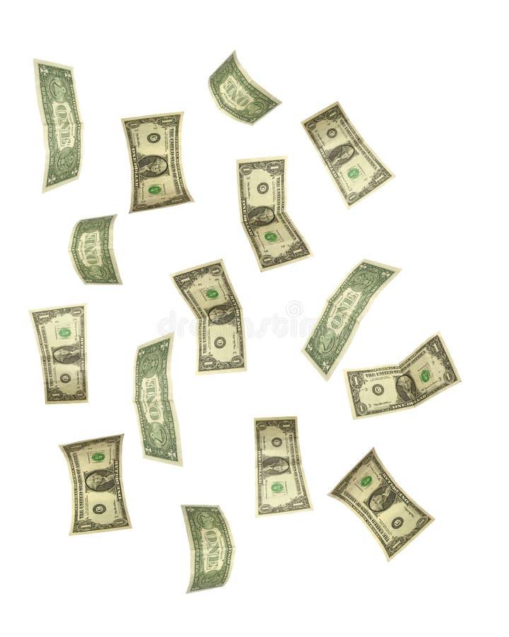 Caduta del dollaro immagine stock
