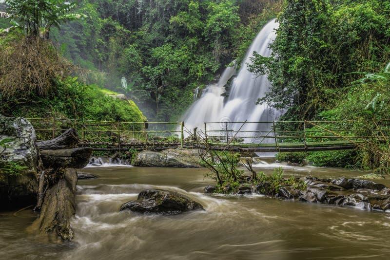 Caduta dell'acqua di Pha Dokseaw immagine stock libera da diritti