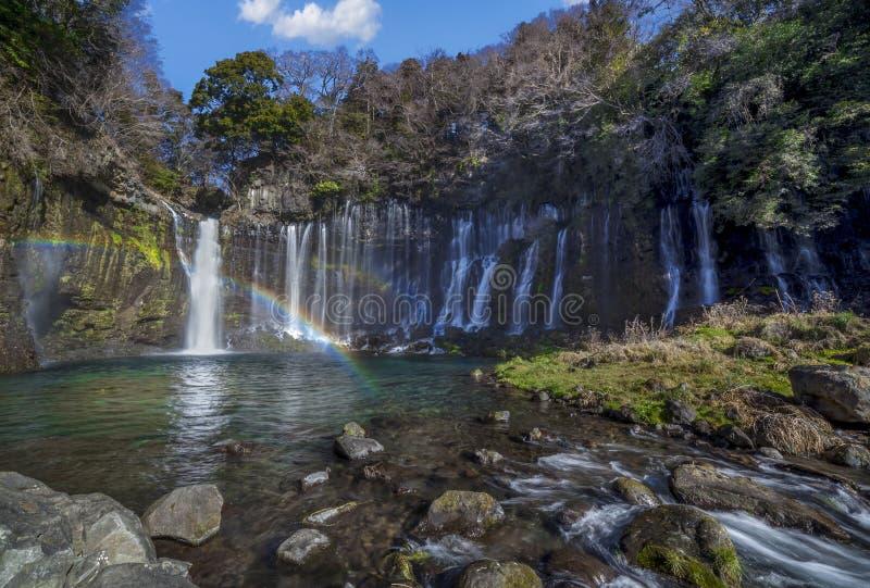 Caduta dell'acqua di Shiraito fotografia stock libera da diritti