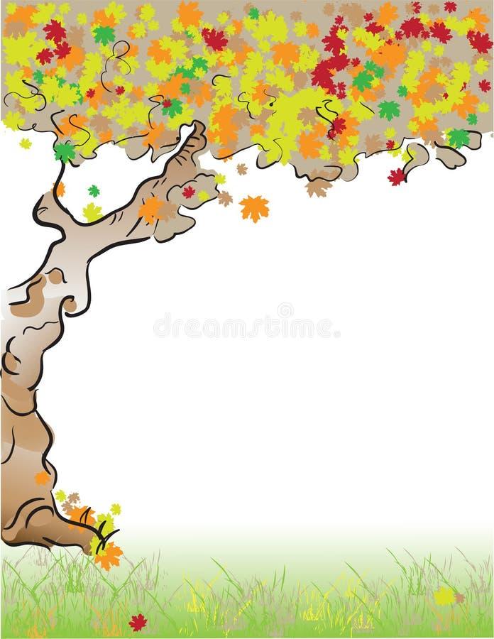 Caduta dell'albero della lettera di formato illustrazione di stock