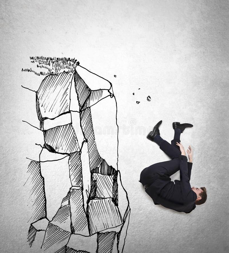 Caduta dell'uomo d'affari illustrazione vettoriale