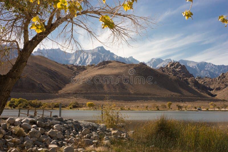 Caduta delle montagne & del lago (autunno) fotografie stock