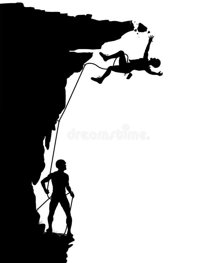 Caduta dello scalatore illustrazione di stock